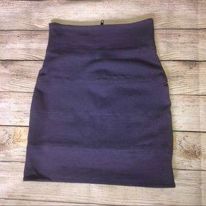 Aritzia Talula Purple Bandage / Bodycon Skirt